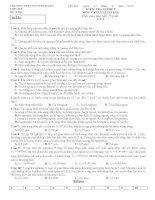 Đề kiểm tra 15 phút Vật lý 12 (lần 5)