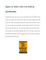 Quản lý nhân viên với triết lý Goldilocks pps