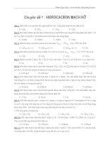 Bài tập trắc nghiệm đại cương hóa hữu cơ luyện thi đại học ppt