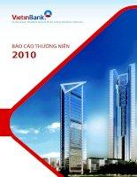 báo cáo thường niên 2010 ngân hàng thương mại cổ phần công thương việt nam vietinbank