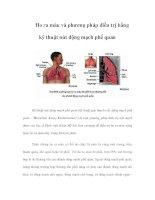 Ho ra máu và phương pháp điều trị bằng kỹ thuật nút động mạch phế quản potx
