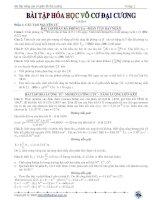 Bài tập hóa học đại cương bồi dưỡng học sinh giỏi pptx