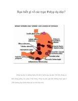 Bạn biết gì về các type Polyp dạ dày? pps