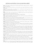 32 bài Giải Bài Toán lập PT- lop 8 -2009-2010