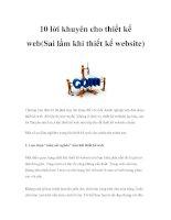 10 lời khuyên cho thiết kế web(Sai lầm khi thiết kế website) potx