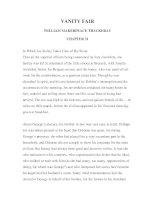 LUYỆN ĐỌC TIẾNG ANH QUA TÁC PHẨM VĂN HỌC-VANITY FAIR -WILLIAM MAKERPEACE THACKERAY -CHAPTER 31 docx