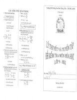 lý thuyết và tuyển tập đề kiểm tra môn hóa học lớp 9 học kỳ 1