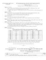 Đề và ĐA thi HSG Địa lý 12 Thái Bình 2009