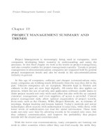 PROJECT MANAGEMENT FOR TELECOMMUNICATIONS MANAGERS CHAPTER 19 pptx