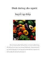 Dinh dưỡng cho người huyết áp thấp ppsx