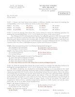Đề thi trắc nghiệm Tiéng Anh 10 cơ bản kỳ II