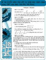 Tuyển sinh vào Chuyên Trần Phú Hải Phòng 05-06 docx
