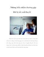 Những hiểu nhầm thường gặp khi bị sốt xuất huyết potx