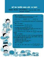 Tuyển sinh vào lớp 10 Chuyên Nguyễn Trãi Hải Dương 04-05 docx