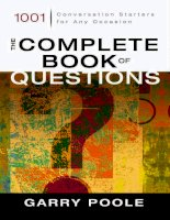 The complete book of questions 1001 conversation starters for any occasion