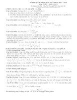 đề thi thử đại học môn Toán (có đáp án)