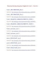 Download bài tập dùng kèm English 8_Unit 1 - Unit 16