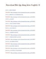 Download Bài tập dùng kèm English 11 _ Unit 1 to Unit 16.doc