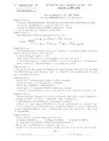 Đề Thi Học Sinh Giỏi HOÁ 12 - Tỉnh Nghệ An - Bổ Túc THPT [2009 - 2010] doc