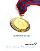 báo cáo thường niên 2011 ngân hàng thương mại cổ phần công thương việt nam vietinbank