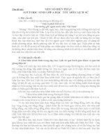 SKKN MỘT VÀI BIỆN PHÁP GIÚP HS LỚP 4 HỌC TỐT MÔN LỊCH SỬ