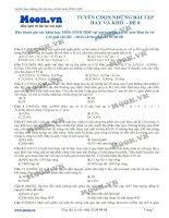 ltđh sinh học - tuyển chọn những bài tập hay và khó -  đề 8
