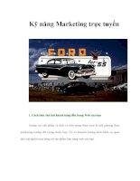 kỹ năng marketing trực tuyến hiệu quả