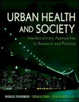 Urban Health and Society: Interdisciplinary Approaches to Research and Practice - Part 1 doc