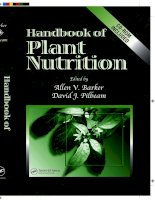 Handbook of Plant Nutrition - chapter 1 doc