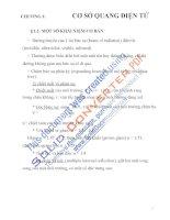 bài giảng môn học quang điện tử và quang điện, chương 1 pptx