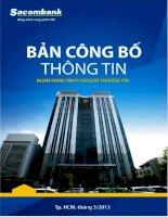bản công bố thông tin ngân hàng tmcp sài gòn thương tín sacombank tp hcm tháng 3 2013