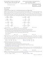 đề thi thử đại học môn sinh học 2014 chuyến bến tre có đáp án