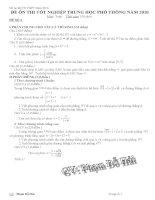 36 đề ôn thi TN12 (có đáp án+thang điểm)