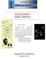 BÀI GIẢNG HÓA HỌC ĐẠI CƯƠNG B1 pdf