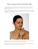 Mẹo sử dụng nước hoa tiết kiệm nhất pdf