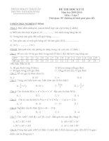 Đề thi học kỳ II Toán 7