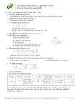 Tổng hợp lý thuyết và công thức giải nhanh Điện xoay chiều