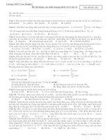 Đề thi khảo sát chất lượng khối 12- THPT Yên Thành 2 - Nghệ An