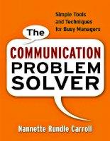 The Communication Problem Solver 1 ppt
