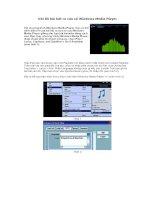 Ghi lời bài hát ra cửa sổ Windows Media Player