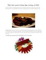 Mẹo bảo quản trứng, lạp xưởng, cá khô pdf