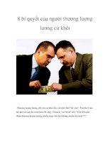 8 bí quyết của người thương lượng lương cừ khôi ppt