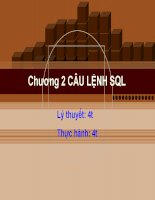 bài giảng cơ sở dữ liệu quan hệ và sql chương 2: Câu lệnh SQL- cđ cntt hữu nghị việt hàn