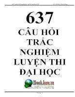 637 Câu Trắc Nghiệm Vật Lý 12 - Ôn thi ĐH (Có Đáp án) pptx