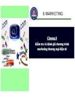 marketing thương mại điện tử - chương 8  kiểm tra và đánh giá chương trình marketing thương mại điện tử