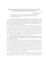 BƯỚC ĐẦU ĐỔI MỚI MỘT SỐ PHƯƠNG PHÁP GIẢNG DẠY MÔN CHỦ NGHĨA XÃ HỘI KHOA HỌC Ở ĐẠI HỌC HUẾ TRẦN CAO PHONG pdf