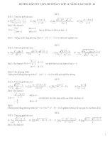Bài tập ôn Chưong IV 11(nc)