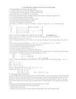 các phương pháp giải toán ở tiểu học