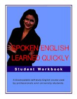 Spoken english learned quickly workbook part 1 pps
