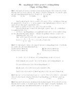 Phương pháp giải bài tập con lắc trùng phùng pdf